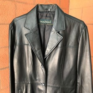 💜 Harvé Benard Black Leather Jacket ECU